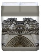 Notre Dame In Paris France Duvet Cover