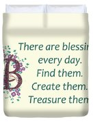 223- Blessings Duvet Cover