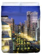 Buildings At The Waterfront Duvet Cover