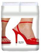 Shoe Love Duvet Cover