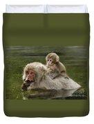 Snow Monkeys, Japan Duvet Cover