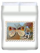 24 Cent Butterfly Stamp Duvet Cover
