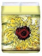 24 Kt Sunflower - Barbara Chichester Duvet Cover