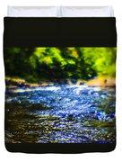 The Stream In Mountain Duvet Cover