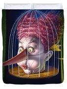 24th Annual Waxdeck's Bird Calling Contest Duvet Cover
