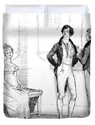 Scene From Pride And Prejudice By Jane Austen Duvet Cover