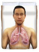 The Respiratory System Duvet Cover