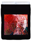 26 East Antenna Abstract 2 Duvet Cover