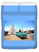 Route 66 Wigwam Motel Duvet Cover
