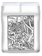 Dance Of Death, 1538 Duvet Cover