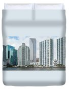 Skyscrapers At The Waterfront Duvet Cover