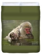 Snow Monkeys, Japan Duvet Cover