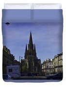 View Of Episcopal Cathedral In Edinburgh Duvet Cover