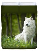 Arctic Wolf Duvet Cover