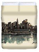 Boston Skyline Duvet Cover