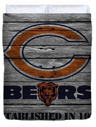 Chicago Bears Duvet Cover by Joe Hamilton