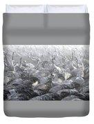 Flock Of Common Crane  Duvet Cover