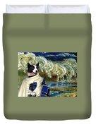 Karelian Bear Dog Art Canvas Print Duvet Cover