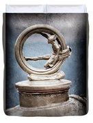 1912 Gobron-brillie 12 Cv Skiff Hood Ornament Duvet Cover