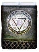 1923 Dodge Brothers Depot Hack Emblem Duvet Cover