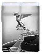 1932 Auburn 12-160 Speedster Hood Ornament Duvet Cover