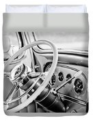 1933 Pontiac Steering Wheel -0463bw Duvet Cover