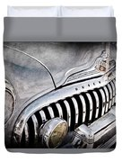 1947 Buick Eight Super Grille Emblem Duvet Cover