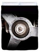 1951 Jaguar Steering Wheel Emblem Duvet Cover