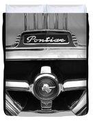 1951 Pontiac Streamliner Grille Emblem Duvet Cover