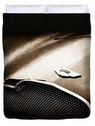 1953 Aston Martin Db2-4 Bertone Roadster Hood Emblem Duvet Cover