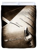 1955 Chevrolet Nomad Wagon Taillight Emblem Duvet Cover