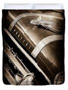 1955 Pontiac Star Chief Grille Emblem - Hood Ornament Duvet Cover