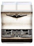 1956 Gmc 100 Deluxe Edition Pickup Truck Hood Ornament - Grille Emblem Duvet Cover