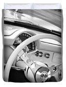 1957 Chevrolet Corvette Steering Wheel Emblem Duvet Cover