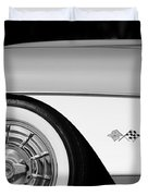 1957 Chevrolet Corvette Wheel Emblem Duvet Cover