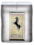 1959 Ferrari 250 Gt Emblem Duvet Cover