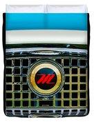1959 Nash Metropolitan Grille Emblem Duvet Cover