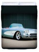 1960 Chevrolet Corvette Duvet Cover