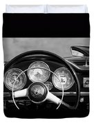 1961 Alfa Romeo Giulietta Spider Steering Wheel Emblem -1185bw Duvet Cover