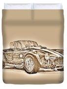 1965 Shelby Ac Cobra Duvet Cover