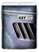1965 Shelby Cobra 427 Emblem Duvet Cover