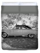1967 Plymouth Belvedere Gtx 440 Painted Bw Duvet Cover