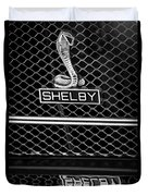 1969 Shelby Gt500 Convertible 428 Cobra Jet Grille Emblem Duvet Cover