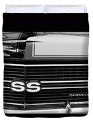 1970 Chevrolet Chevelle Ss Grille Emblem Duvet Cover
