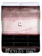 1972 Ferrari 365 Gtb-4a Grille Emblem Duvet Cover