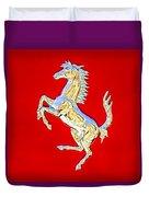 1999 Ferrari 550 Maranello Stallion Emblem Duvet Cover