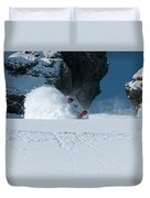 A Male Snowboarder Makes A Series Duvet Cover