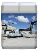 A U.s. Marine Corps Mv-22b Osprey Duvet Cover