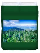 A Wide View Of The Great Smoky Mountains From The Top Of Clingma Duvet Cover