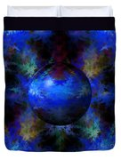 Abstract Blue Globe Duvet Cover